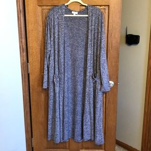 Lularoe Super Soft Blue/White Sarah Sweater NWOT